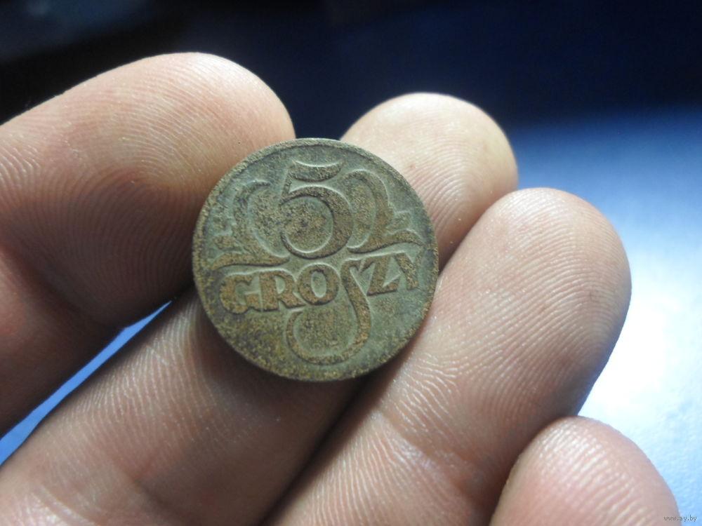 Монета речь посполитая 5 грошей1923 цена серебро 1855 года стоимость