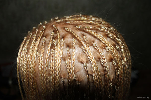 Плетение африканских косичек с