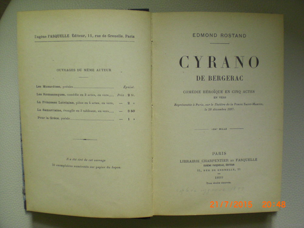 an essay on cyrano de bergerac by edmond rostand Cyrano de bergerac: cyrano de bergerac, verse drama in five acts by edmond rostand, performed in 1897 and published the following year it was based only nominally on the 17th-century nobleman of the same name, known for his bold adventures and large nose.